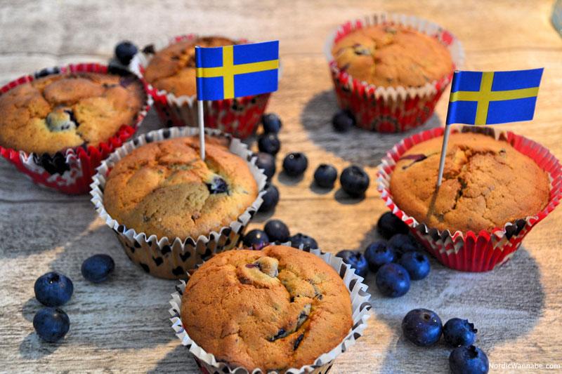 Skandinavische Rezepte Norwegen Schweden Dänemark Finnland Schwedische Muffins mit Blaubeeren Rezept www.nordicwannabe.com