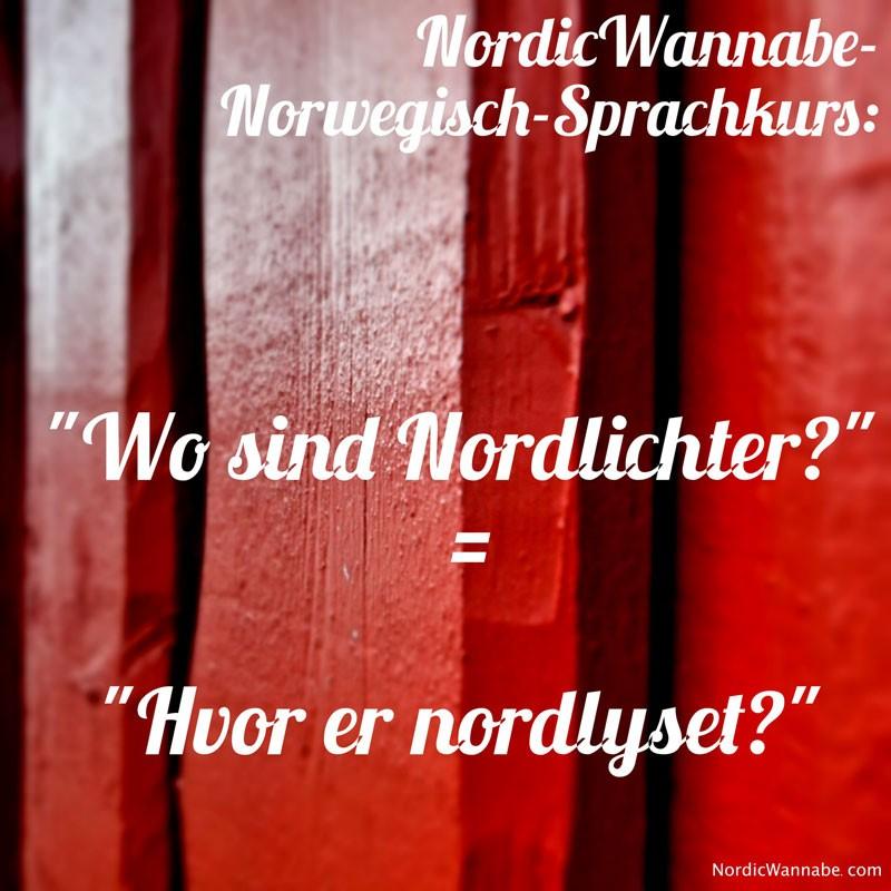 Norwegisch Sprachkurs Wo ist die Toilette Haben Sie Waffeln Wo sind Nordlichter?