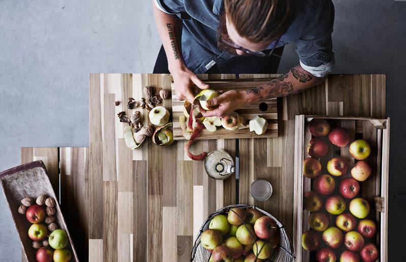 IKEA Neuheit, neu, 2015, 2016, Skogsta, Serie Kollektion, Möbel, nordisch, skandinavisch, Scandi Style, Interior, Schwedisch, norwegisch, Küche, Esszimmer, Holz, nachhaltig