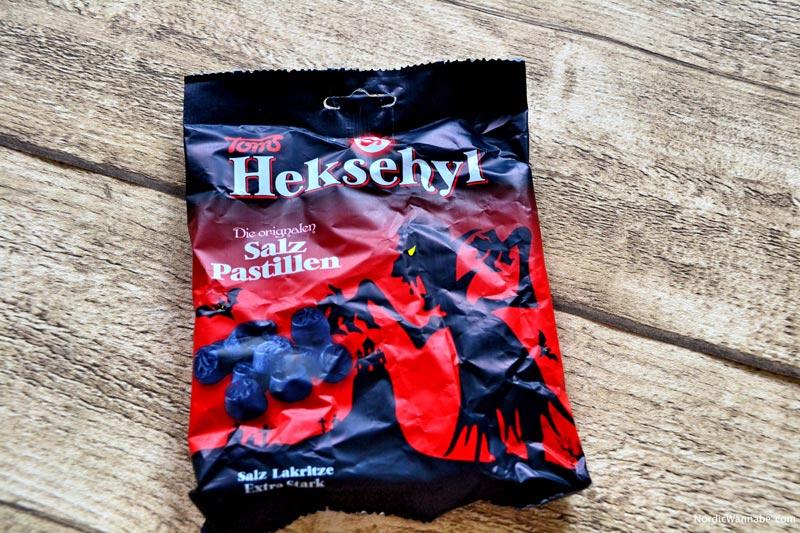 Lakritz aus Dänemark, Heksehyl, Toms, Salmiak, Lakritz, salzig, Pastillen, Hexen, Süßigkeit, Dänemark, Skandinavien, Blog