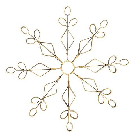 gold schneeflocke christmas weihnachten winter deko schmuck weihanchtsdeko. Black Bedroom Furniture Sets. Home Design Ideas