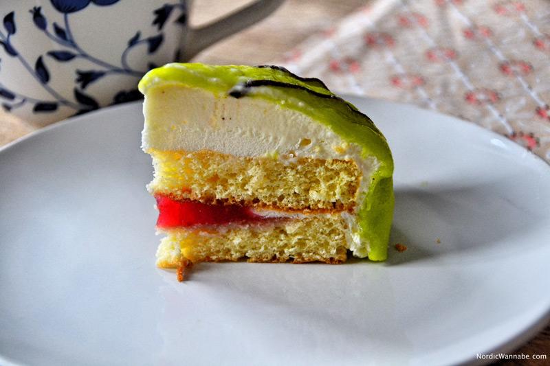 Torte, schwedische Prinzessinnentorte, Schweden, Blog, Kuchen, grün, lecker, Marzipan, Skandinavien