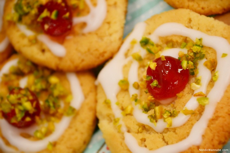 Kekse, Skandinavien, Blog, Plätzchen, Weihnachten, Norwegen, Schweden, Finnland, Dänemark, selbst gebacken, Kirsch Drömmar, lecker, leicht, schnell