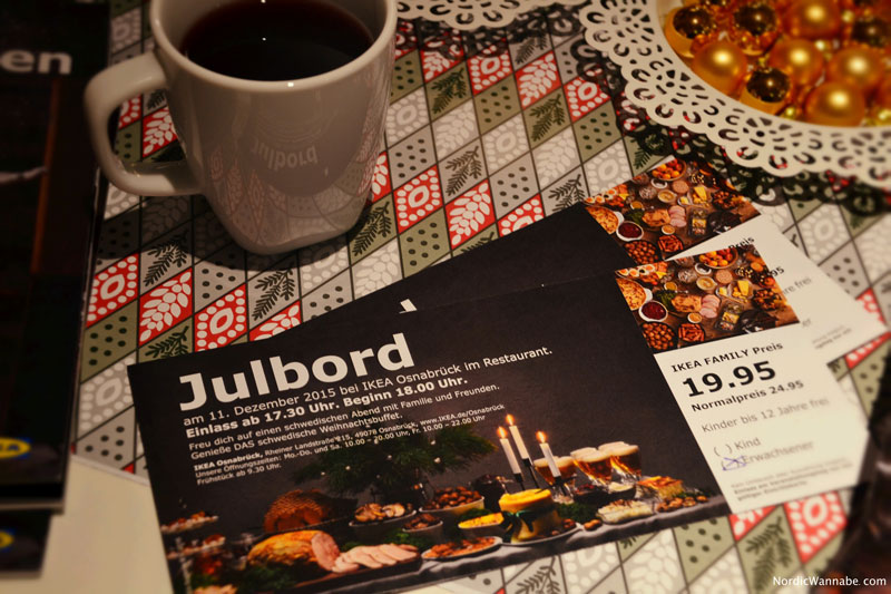 Schwedisches Weihnachtsbuffet bei IKEA, Julbord, IKEA, Schweden, Skandinavien, Blog, Lachs, Kaviar, Ei, Weihnachtsschinken, Hering, Dill, Kuchen, Milchreis, Pfefferkuchen, Köttbullar, Lachs, Softbröd, Elch