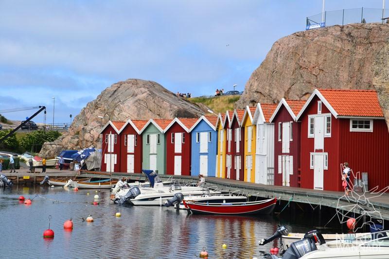 Smögen, Mittsommer, Hafen, Brygge, Schweden, Skandinavien, Blog, rote Holzhäuser, Einreisen nach Nordeuropa