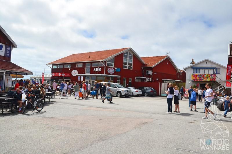 Smögen, Mittsommer, Hafen, Brygge, Schweden, Skandinavien, Blog, rote Holzhäuser