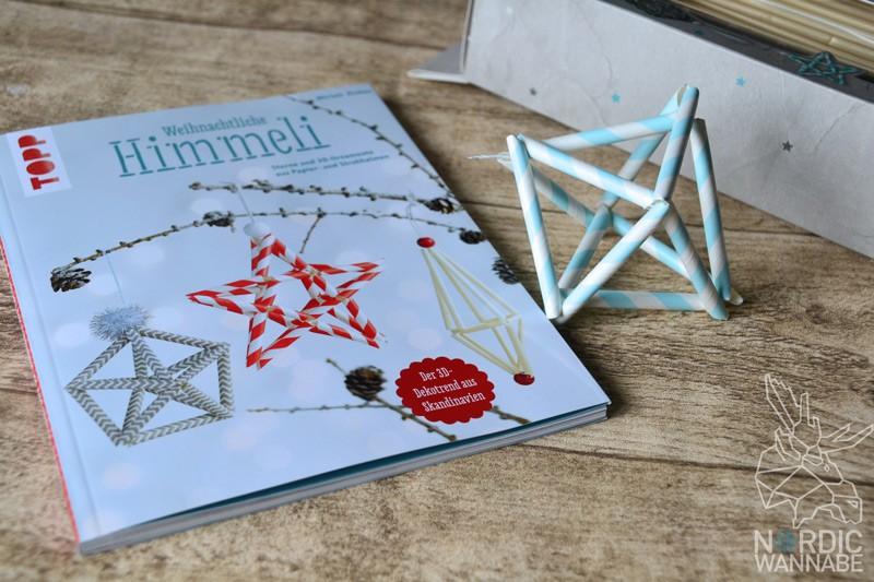 Weihnachtliche Himmeli, DIY, Do it yourself, Himmeli, Trend, Skandinavien, Finnland, Schweden, Basteln, Weihnachtsdekoration