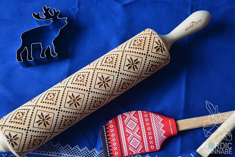 Nordliebe, Blog, Skandinavische Muster, Nudelholz, Norwegermuster, Dalapferd, Skandinavien, Kekse, Knäckebrot, Teigrolle, schwedisch, norwegisch, Geschenk, Weihnachten,