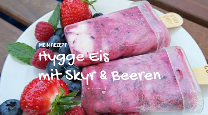 Skyr-Eis, Skyr, Eis, Homemade, gesund, vegetarisch, Magerquark, Island, Skandinavien, Blog, hygge, Arla, Blaubeeren, Erdbeeren, Himbeeren, Depot, Hygge-Eis, lecker, einfach,