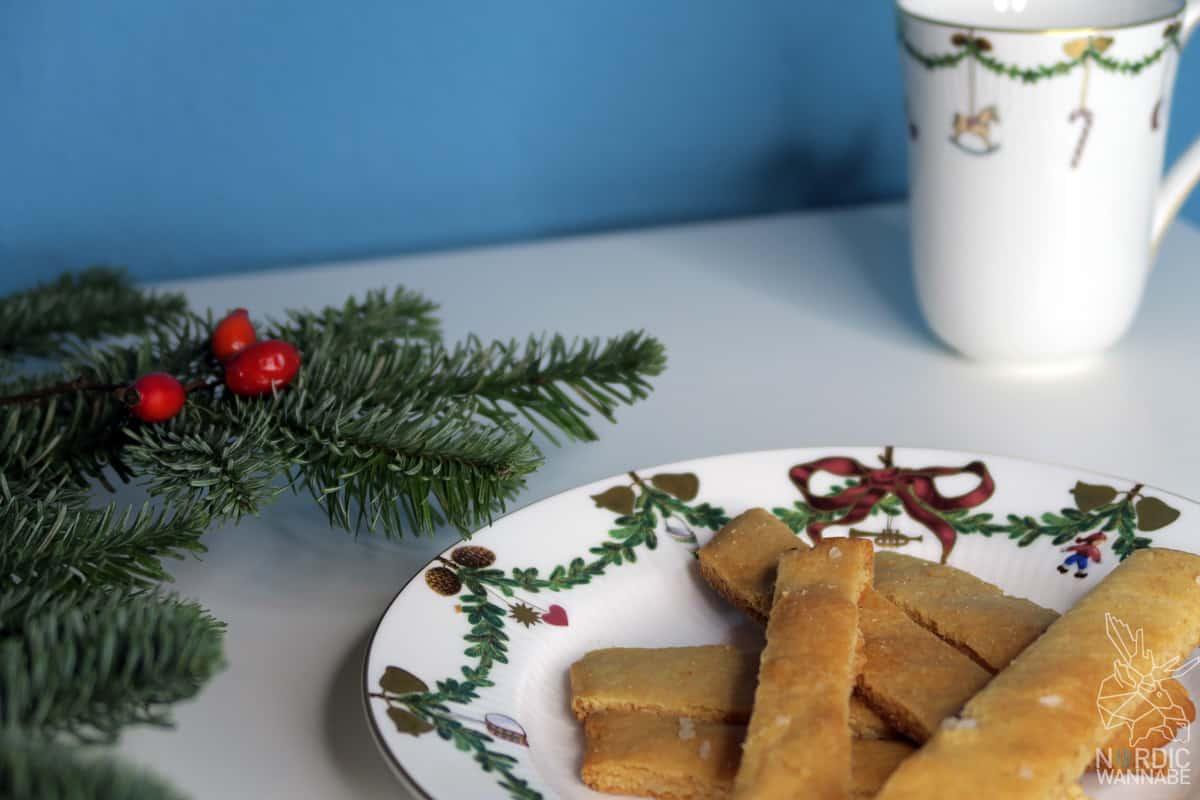 Skandinavische Kekse für Weihnachten: salzige Fjord-Happen, Norwegen -