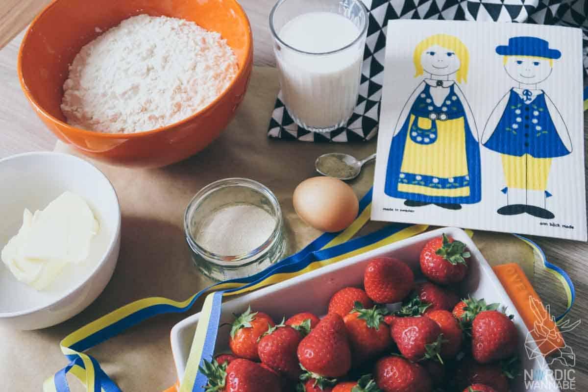 Schwedische Zimtschnecken mit Erdbeeren, Rezept, Schweden, Blog, Erdbeeren, Schwedische Zimtschnecken, Kardamom
