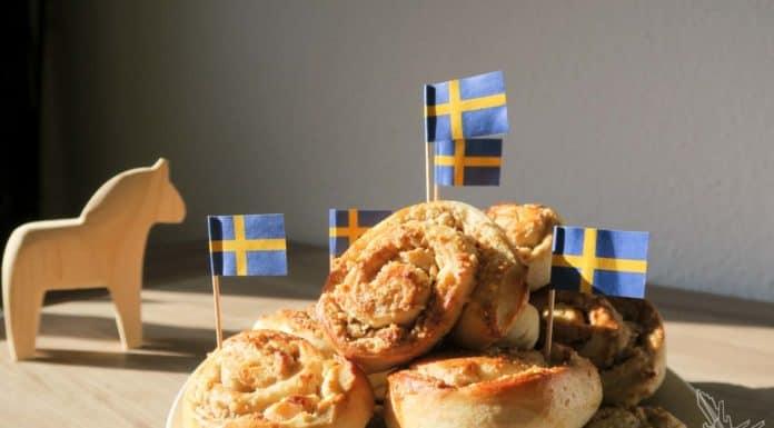 Walnuss, Walnussschnecke, Schwedische Schnecke, Zimtschnecke, Rezept, Schweden, Blog, Kanelbullar
