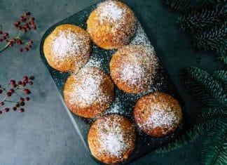 Preiselbeer-Muffins, Skandinavische Weihnachtskekse, Skandinavien, Schweden, Norwegen