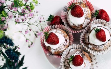 Mittsommer-Rezept, Erdbeermuffins, Schweden, Skyr Muffins, Midsommar