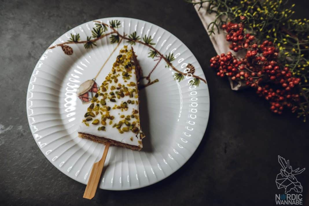 Skandinavische Weihnachten, Nussbaum, Schweden, Kuchen, Rezept