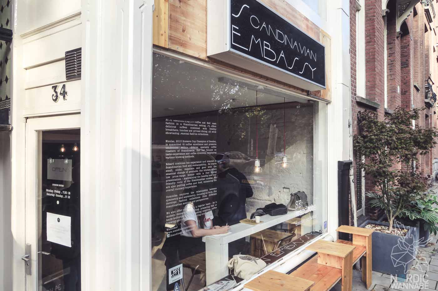 Skandinavisches Restaurant, Shop & Café in Amsterdam, Gård Nordic Kitchen, Scandinavian Embassy