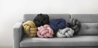 Knoten-Kissen, skandinavisch Kissen, Design House Stockholm, Knot Cushion
