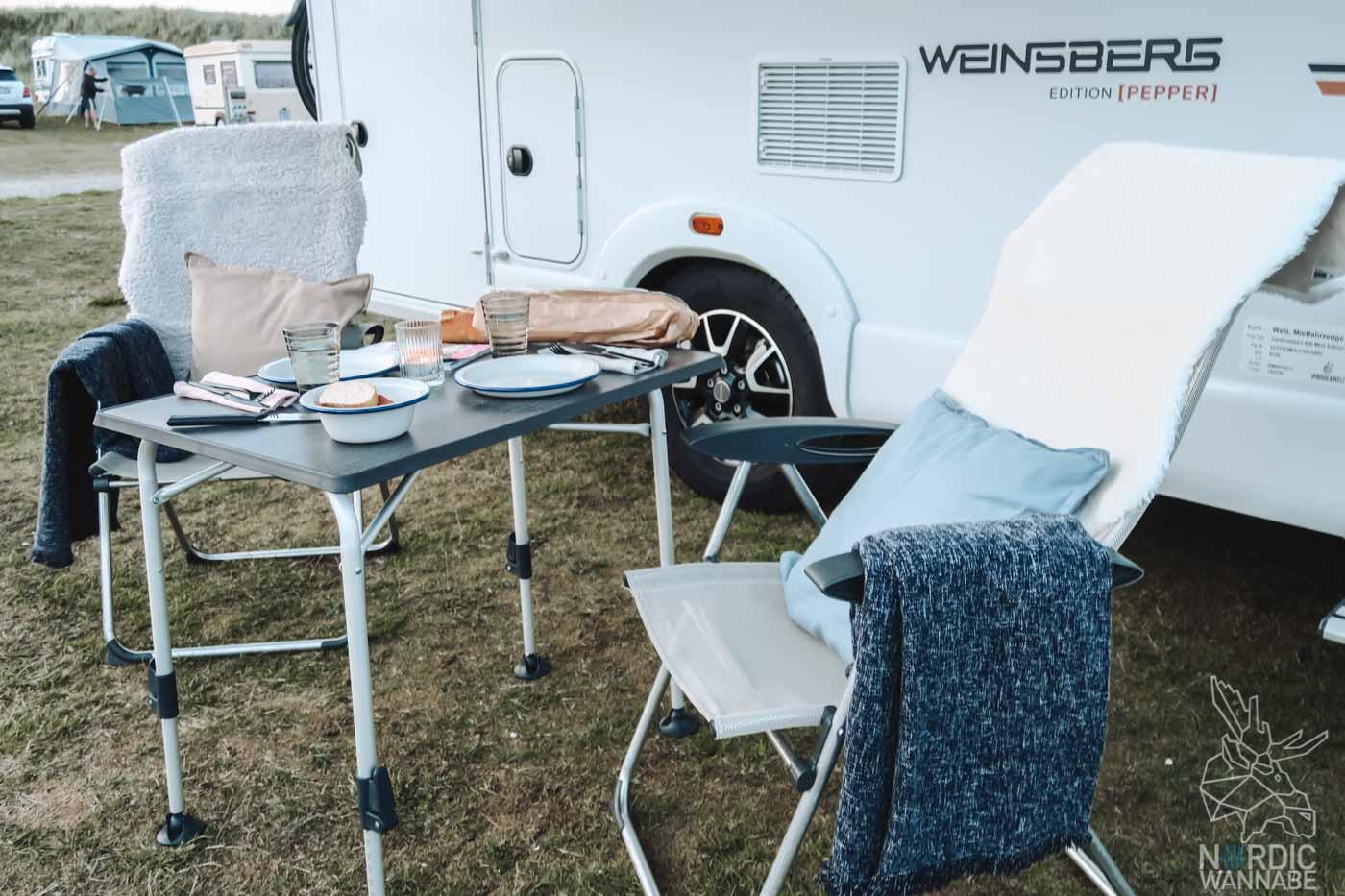 Hygge im Wohnmobil, Skandi-Style, Wohnmobil, Dänemark, Camping