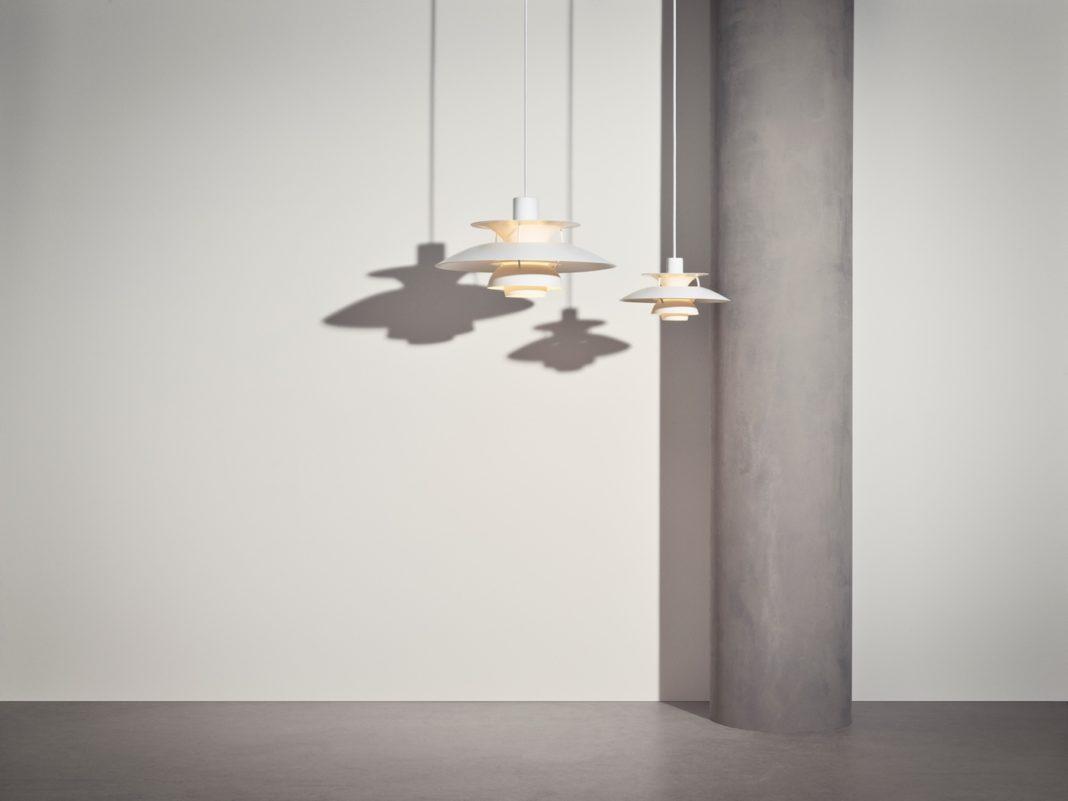Louis Poulsen PH 5, Monochrom, Dänische Leuchten, Dänisches Design