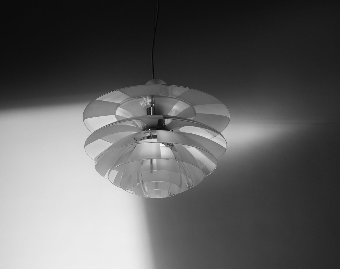 Louis Poulsen, Glasleuchte, PH Septima, Design-Klassiker, Poul Henningsen