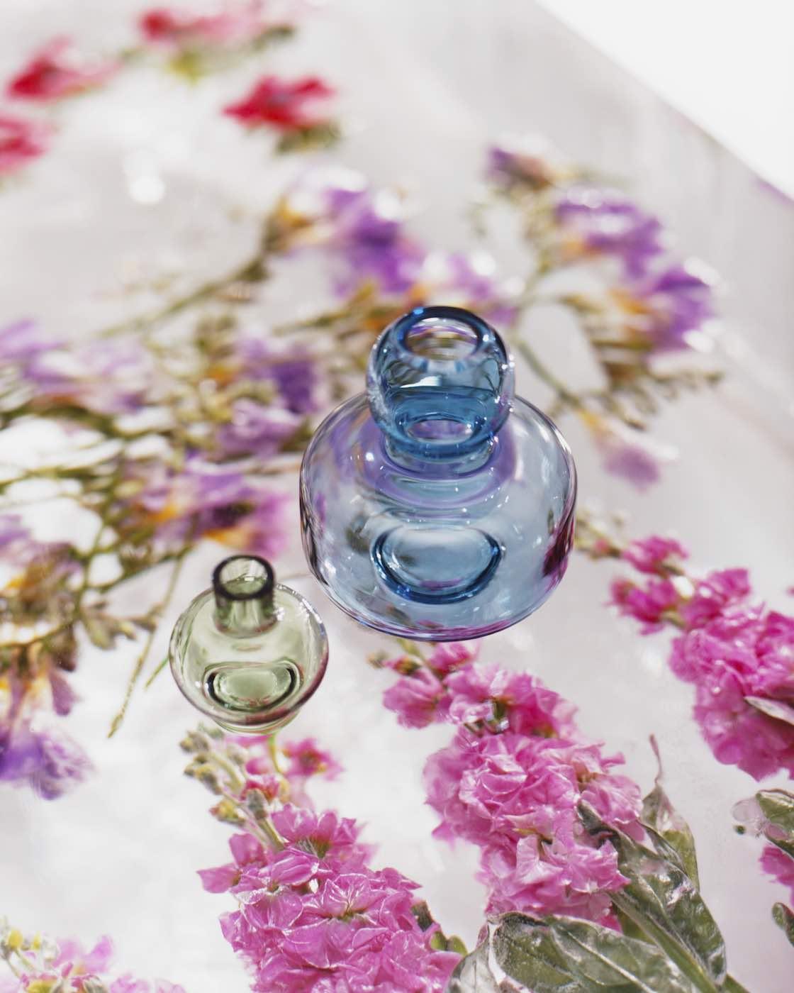 Skandinavische Kerzenleuchter, Kerzenhalter, Glas, Marimekko , Vasen