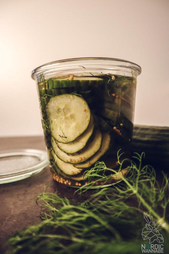 Nordic Food Forn, Koch podcast, Dänischer Gurkensalat , eingelegte Gurken