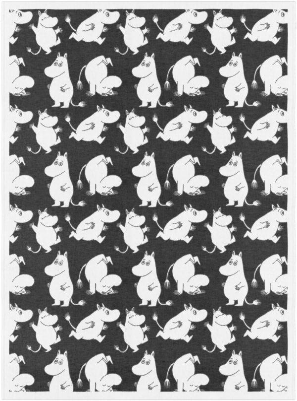 Skandinavisches Design, Moomin Decke, Mumins, Ekelund, Decke aus Baumwolle biologisch