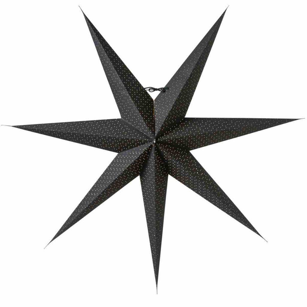 Weihnachtsdeko schwarz, Skandinavische Weihnachtsdeko , Stern