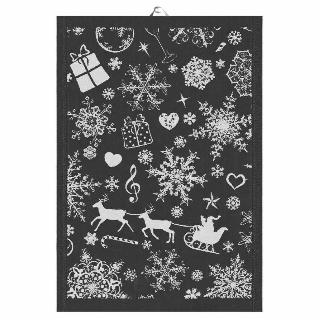 Weihnachtsdeko schwarz, Skandinavische Weihnachtsdeko , Handtuch Weihnachten