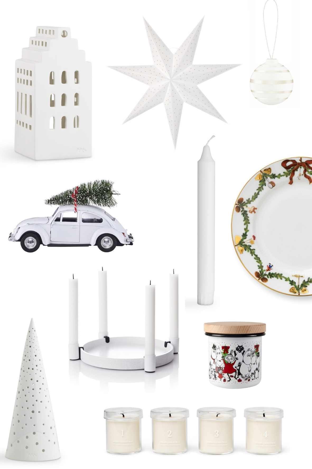Skandinavische Weihnachtsdeko in Weiß, Dekoration, Scandi White, Wohnblog, skandinavisch, Skandi Style