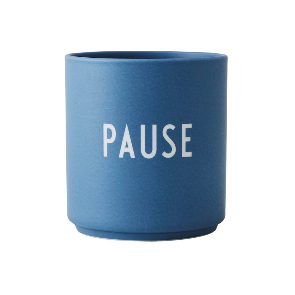 Design letters Becher Pause